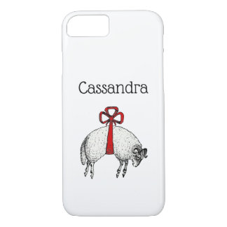 Heraldic Banded Fleece Ram Sheep Crest Emblem iPhone 8/7 Case