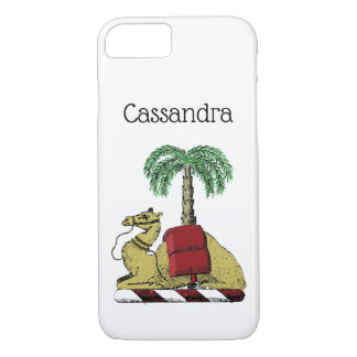 Heraldic Camel Palm Tree Color Coat of Arms Case-Mate iPhone Case
