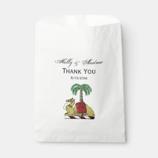 Heraldic Camel Palm Tree Color Coat of Arms Favour Bag