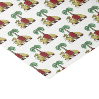 Heraldic Camel Palm Tree Color Coat of Arms Tissue Paper