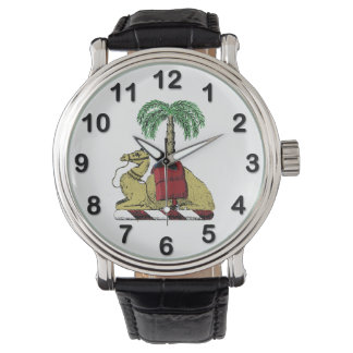 Heraldic Camel Palm Tree Color Coat of Arms Watch