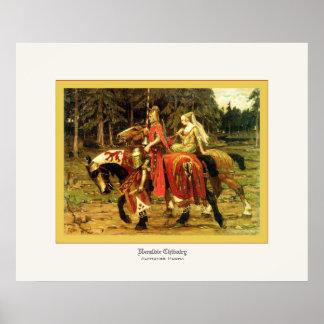 Heraldic Chivalry ~ Alphonse Mucha Poster