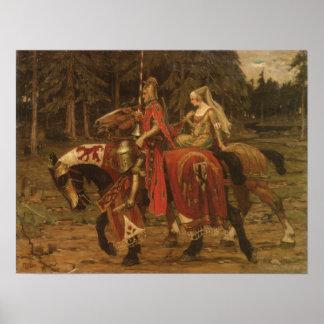 Heraldic Chivalry Poster