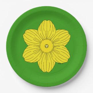 Heraldic Daffodil Paper Plate