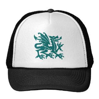 Heraldic Dragon 01 - Moss Green Trucker Hat