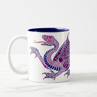 Heraldic Dragon Blue/Purple Coffee Mug