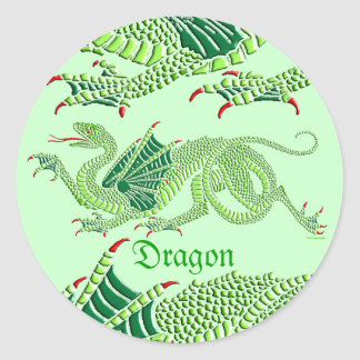 Heraldic Dragon Green - Sticker