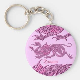 Heraldic Dragon (Pink) - Keychain