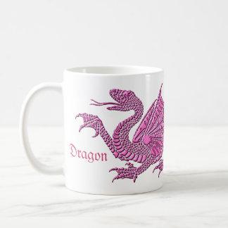 Heraldic Dragon (Pink) - Mug #1
