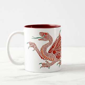 Heraldic Dragon Red Mug