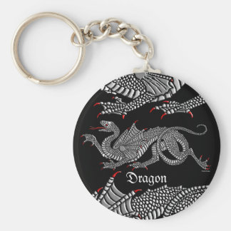 Heraldic Dragon (Silver) - Keychain