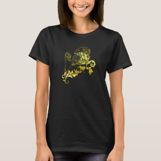 Heraldic Gold Lion - MyBlazon's T-shirts for her