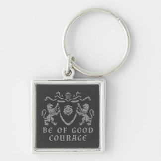 Heraldic Good Courage Keychain