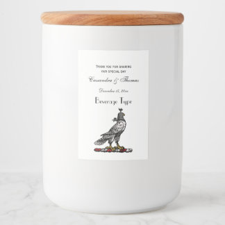 Heraldic Hunting Falcon Wearing Helmet Hood C Food Label