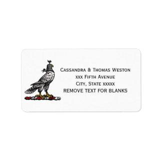 Heraldic Hunting Falcon Wearing Helmet Hood C Label
