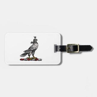 Heraldic Hunting Falcon Wearing Helmet Hood C Luggage Tag