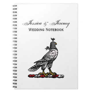 Heraldic Hunting Falcon Wearing Helmet Hood C Notebook