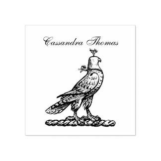 Heraldic Hunting Falcon Wearing Helmet Hood C Rubber Stamp