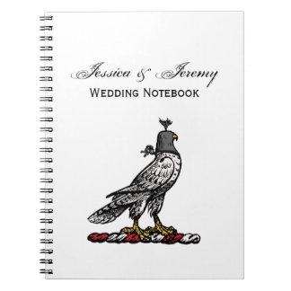 Heraldic Hunting Falcon Wearing Helmet Hood C Spiral Notebook