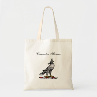 Heraldic Hunting Falcon Wearing Helmet Hood C Tote Bag