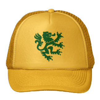 Heraldic Lion 01 - Moss Green Trucker Hat