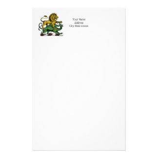 Heraldic Lion and Dragon Crest Emblem Stationery