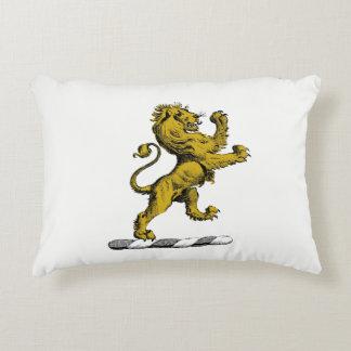 Heraldic Lion Standing Crest Emblem C Accent Pillow