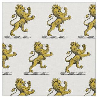 Heraldic Lion Standing Crest Emblem C Fabric