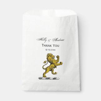 Heraldic Lion Standing Crest Emblem C Favour Bag