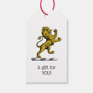 Heraldic Lion Standing Crest Emblem C Gift Tags