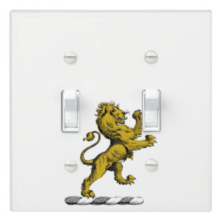 Heraldic Lion Standing Crest Emblem C Light Switch Cover