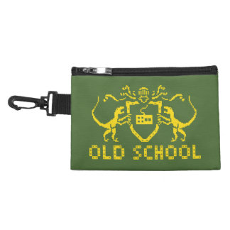 Heraldic Pixel Dinosaur Clip On Accessory Bag