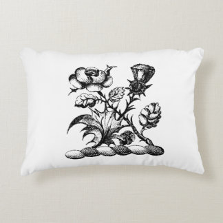 Heraldic Rose & Thistle Coat of Arms Crest Emblem Accent Pillow