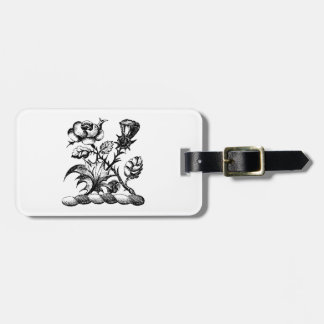 Heraldic Rose & Thistle Coat of Arms Crest Emblem Bag Tag