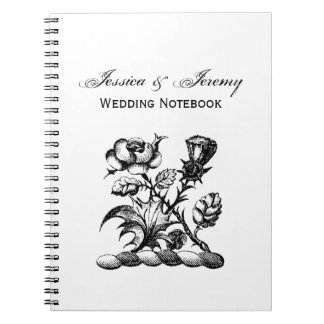 Heraldic Rose & Thistle Coat of Arms Crest Emblem Notebook