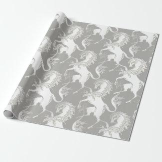 Heraldic Unicorn Pattern Wrapping Paper