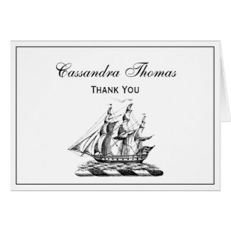 Heraldic Vintage Nautical Clipper Ship Crest Card