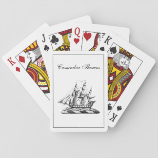 Heraldic Vintage Nautical Clipper Ship Crest Playing Cards