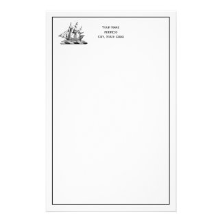 Heraldic Vintage Nautical Clipper Ship Crest Stationery