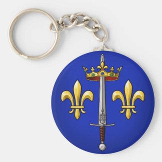 Heraldry of Joan of Arc Jeanne d'Arc Keychain