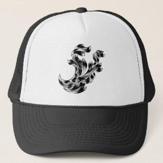 Heraldry Scroll Floral Filigree Design Trucker Hat