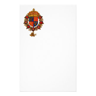 Heraldry with Crown Customized Stationery