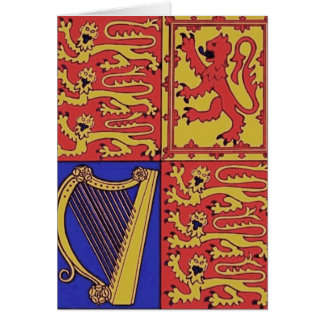Heraldry With Harp And Lion Card
