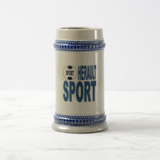 HERAULT SPORT CATCHES BEER STEIN