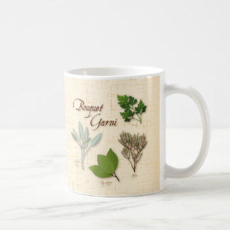 Herb Bouquet, Recipe, Bay, Thyme, Sage, Parsley Classic White Coffee Mug