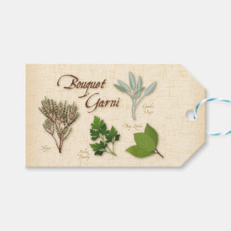Herb Bouquet Recipe, Bay, Thyme, Sage, Parsley Pack Of Gift Tags
