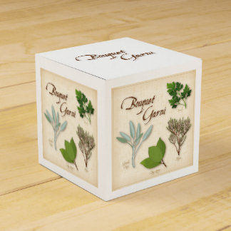 Herb Bouquet, Recipe, Bay, Thyme, Sage, Parsley Party Favor Box