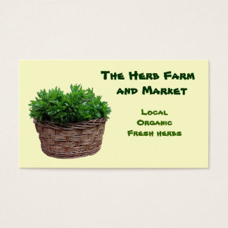 Herb Farm Market Business Card
