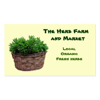 Herb Farm Market Pack Of Standard Business Cards