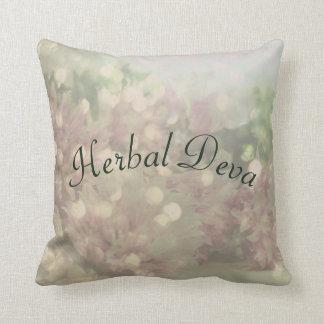 Herbal Deva Throw Pillow